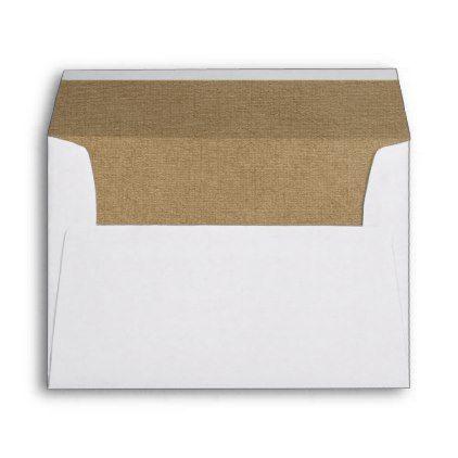 Classic Rustic Kraft Lined Wedding Envelopes - elegant wedding gifts diy accessories ideas
