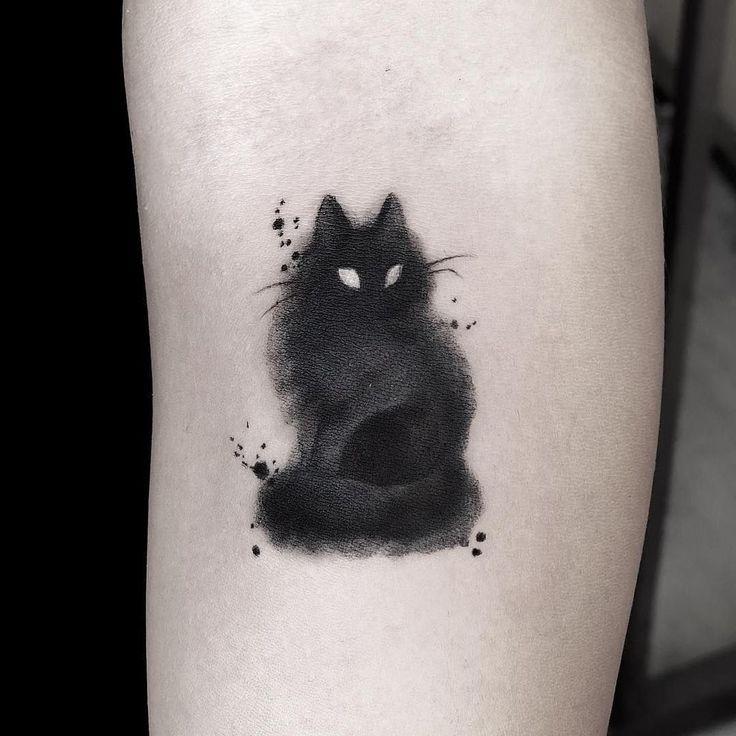 Más de 30 ideas encantadoras de tatuajes de gatos para que los amantes de los gatos prueben #tattooideas Increíbles más de 30…