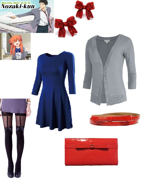 Monthly Girls' Nozaki Kun Sakura inspired outfit, get the look on Amazon and watch on Anime Network!  http://www.theanimenetwork.com/Anime/Monthly-Girls-Nozaki-Kun/Watch