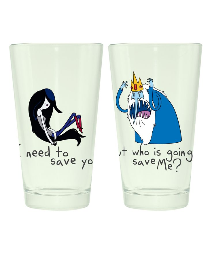 Marceline & Ice King Adventure Time Pint Glass - Set of Two