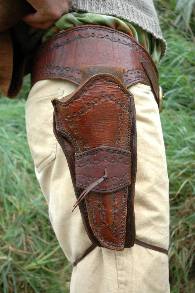 A custom holster made for the man who has everything - except for a place to put his weapons.