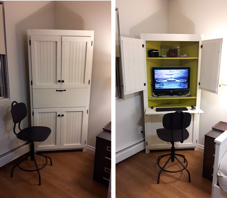 Corner computer cabinet | Do It Yourself Home Projects from Ana White