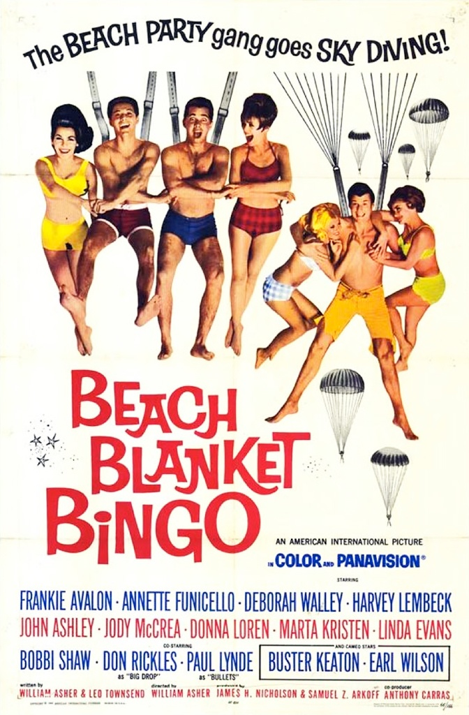 Beach Blanket Bingo (1965) starring Frankie Avalon & Annette Funicello