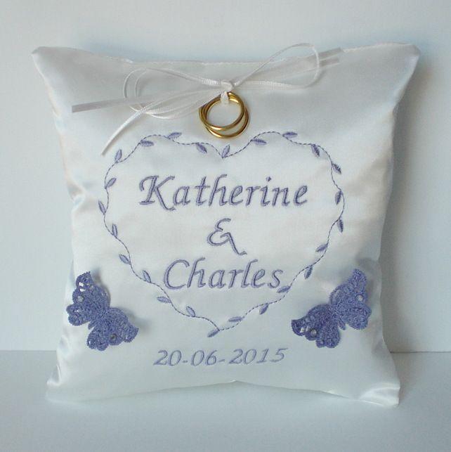 Personalised Wedding Ring Cushion 28 00