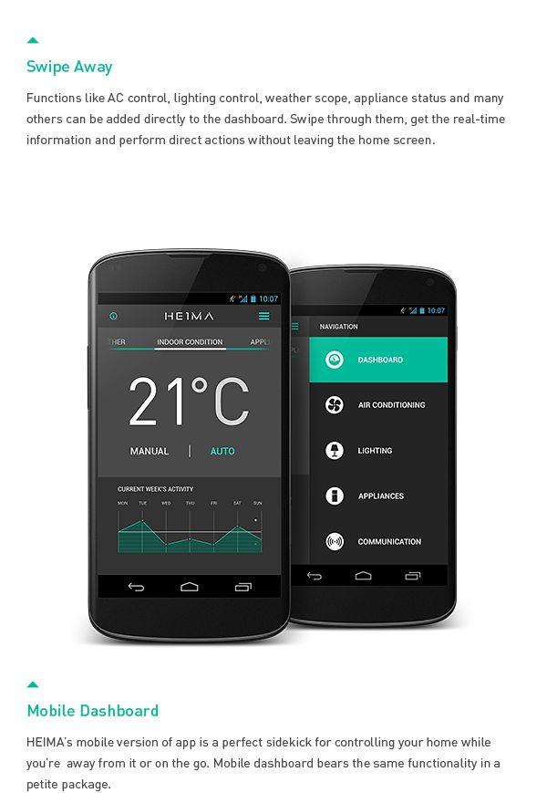 HEIMA. Smart Home Automation UI. by Dmitrij Paškevič, via Behance