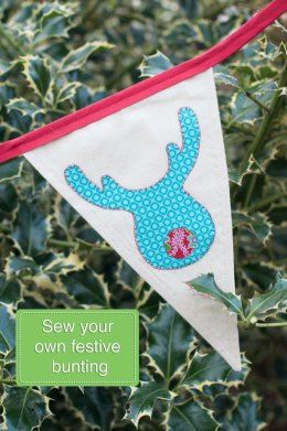 Sew Your Own Christmas Bunting With Festive Appliqué Shapes!