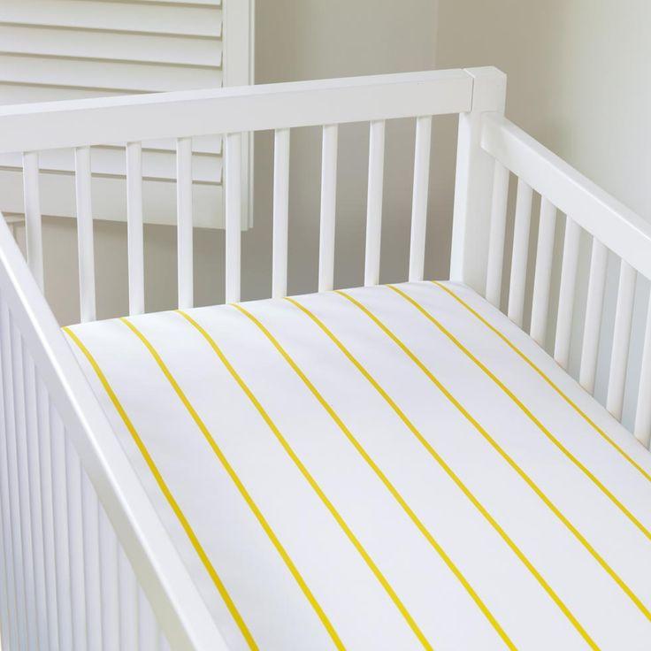 regatta yellow crib sheets from unison