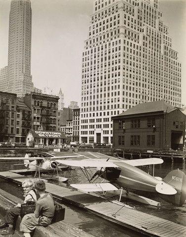 Downtown Skyport, Pier 11, East River, Manhattan by Berenice Abbott