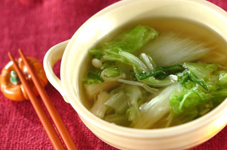 白菜のスープのレシピ・作り方 - 簡単プロの料理レシピ | E・レシピ
