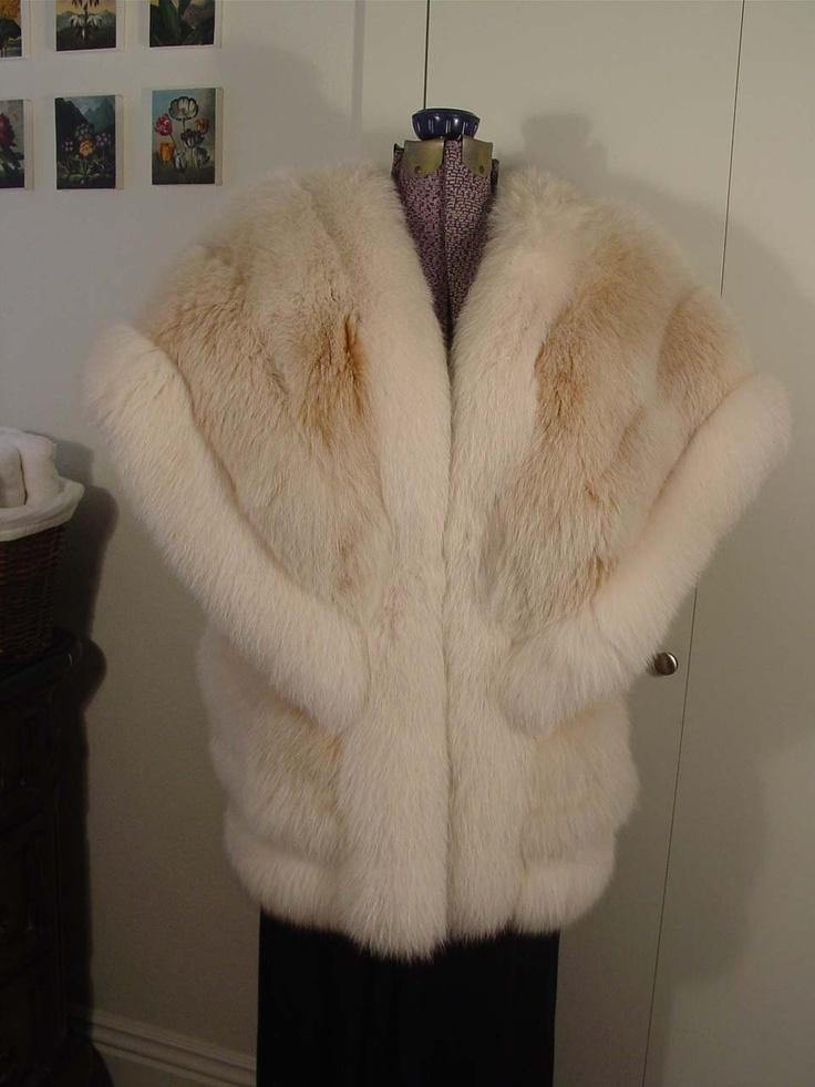 Items similar to Amazing Fox Fur Vest Cape Jacket Stole on Etsy