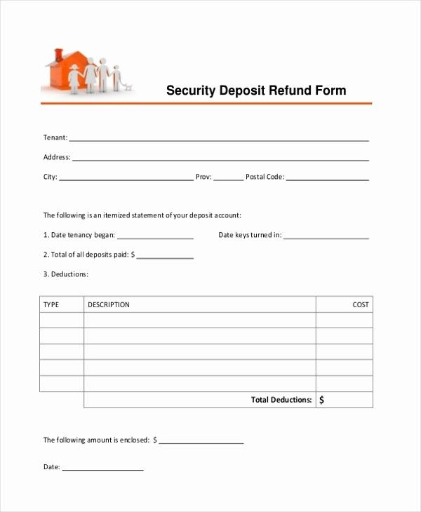 Best Of Sample Security Deposit Receipt Form 8 Free Documents Receipt Template Free Receipt Template Invoice Template