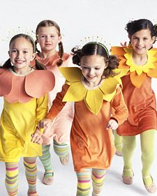 another option for girls' flower Halloween costume. They might be more open to the collar rather than a bit headband thing.