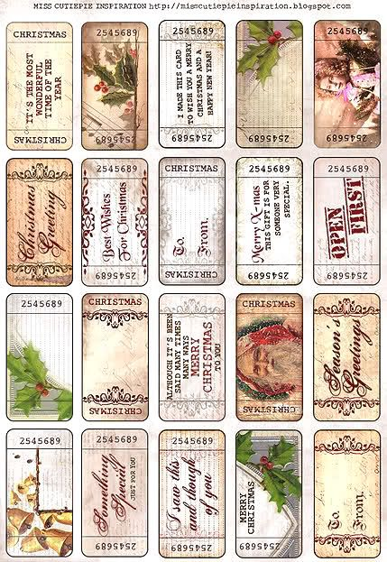 Free Vintage Christmas Ticket Printables.  Can use for gift tages.  Blogger pinned also has many other free printables.