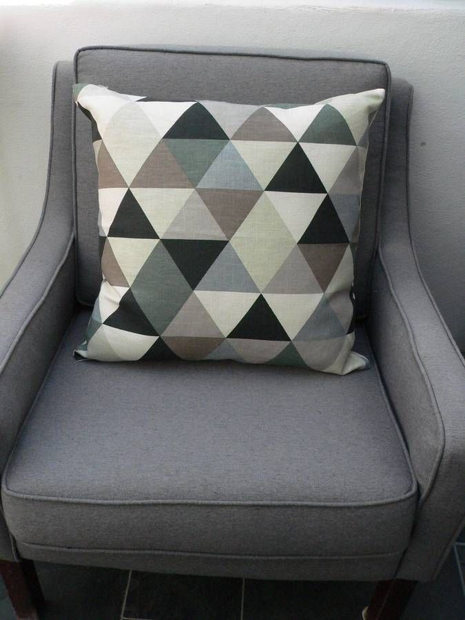 Sofa Cushions That Hold Up A Lovely Geometric Cushion In Greyno Sofa Is Complete