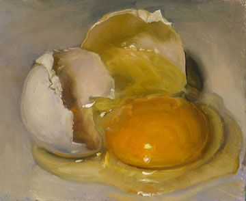 'Egg' by American painter Duane Keiser. via Contemporary Visionists