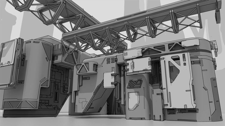 ArtStation - Sci-fi sketch, Carlos Alberto Martínez