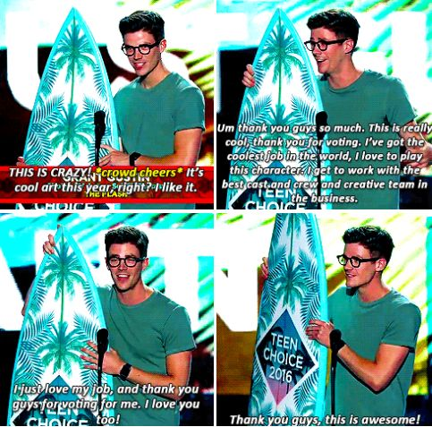 Grant Gustin - Teen Choice Awards 2016 Even though the teen choice awards are rigged I'm still proud of him and what he continues to achieve