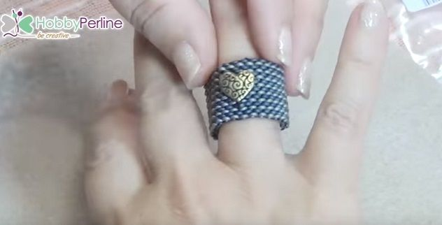 how to make beaded rings with explanations in Italian