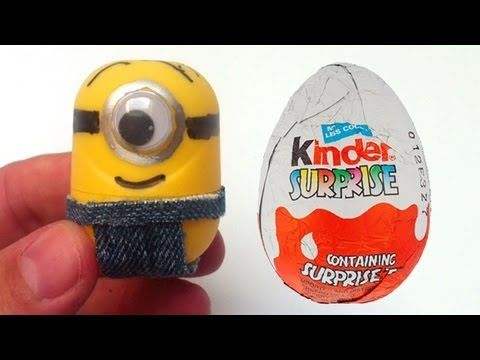 How to make Minions from Kinder Surprise eggs