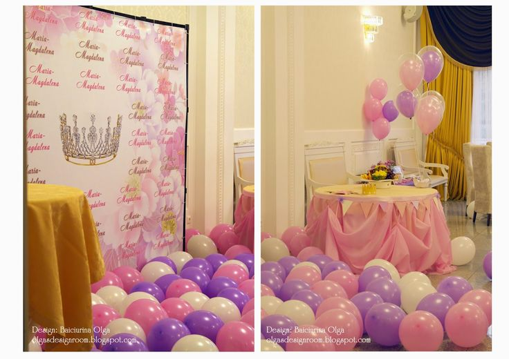 Baiciurina Olga's Design Room: Pink&Violet Princess Birthday Party-День рождения для принцессы!