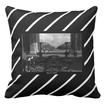 Vintage Paris Triumphal arch Unknown soldier Throw Pillow - white gifts elegant diy gift ideas