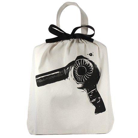 Oppbevar hårføneren din i en stilig stoffpose!
