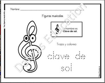 Las figuras musicales contiene 16 actividades para colorear, identificar, contar, trazar y aprender las figuras musicales.   *Las actividades son el español.