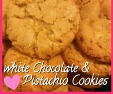 Recipe white chocolate & pistachio cookies  by rheke1983 - Recipe of category Baking - sweet