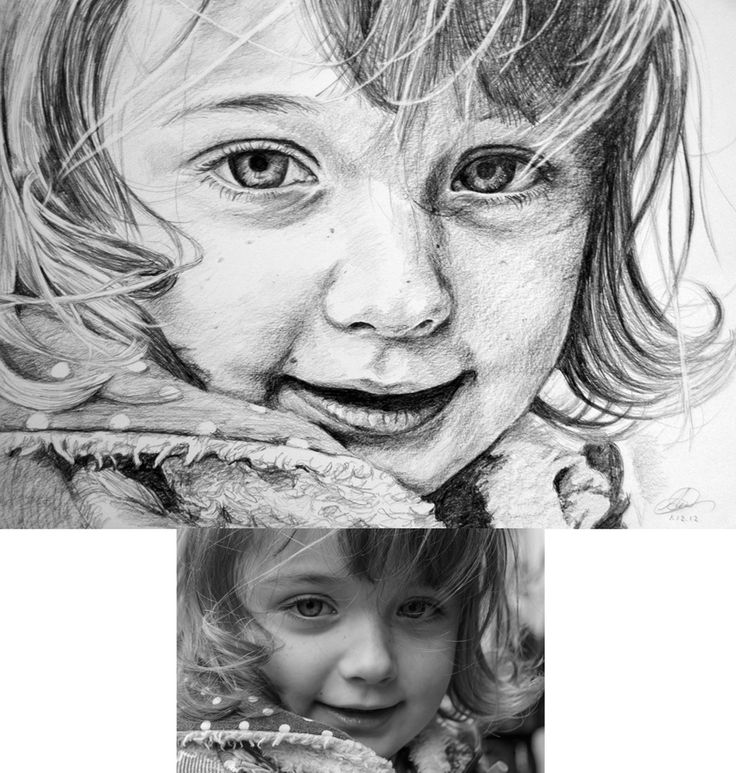 Pencil portrait from photograph, shown with reference. Art by pencil portrait artist and Children's portrait artist Anna Gilhespy. Please visit my boards to see more, or stop by my website www.annagilhespy.com