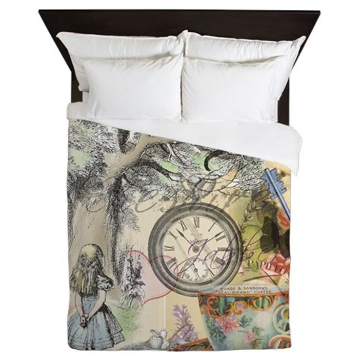 Cheshire Cat Alice In Wonderland Queen Duvet For