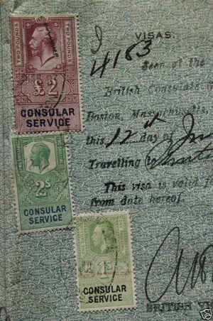 vintage U.S. passport