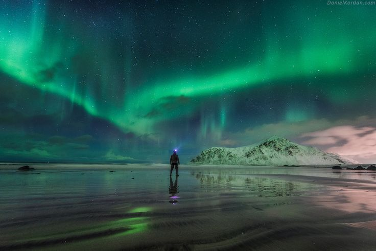 """Fireworks! - What could be a better birthday present other than hearty company of friends, walk along the ocean beach and wonderful """"fireworks"""". Today I am 27, celebrating at my most beloved place on the Earth - Lofoten islands. DanielKordan.com"""