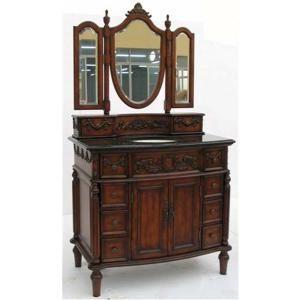Victorian Bathrooms Tipton Single 40 Inch Victorian Bathroom Vanity With Mirror Option