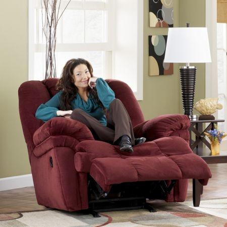 #Heavy_Duty_Recliner Burgundy Big Mans Rocker Recliner Heavy Duty Chenille Cover NOW $299 To purchase & 24 best 500 LB+ Heavy Duty Recliner For Big People images on ... islam-shia.org