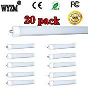 WYZM 20-Pack 96″ 8ft 40w T12 LED Tube Double-end Power F96T12 / DX / ALTO 75 Watt T12 Linear Fluorescent Tube Replacement (20)