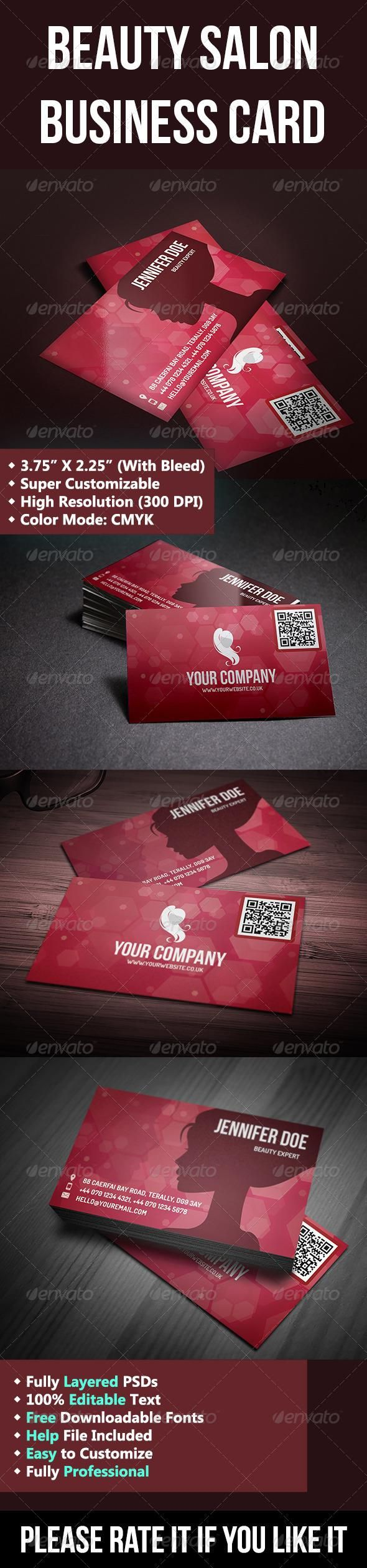 Beauty Salon Business Cards | Unlimitedgamers.co
