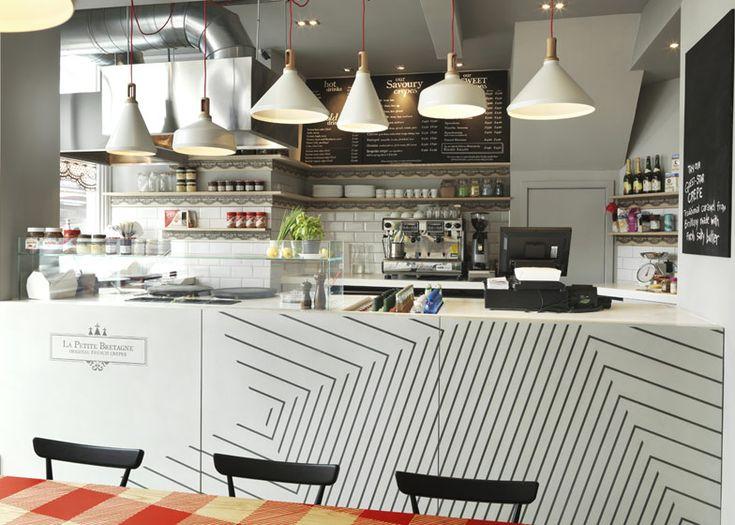 La Petite Bretagne crêperie interior by Paul Crofts Studio