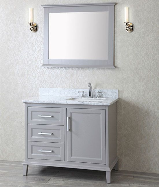 Ariel+Nantucket+(single)+42-Inch+Taupe+Grey+Transitional+Bathroom+Vanity+Set