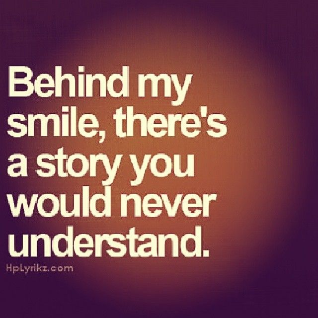 Inspirational Smile Quotes Behind