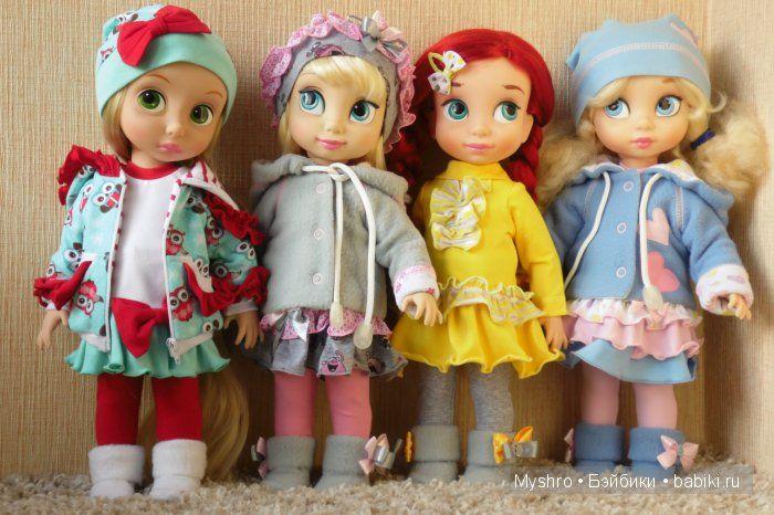 Трикотажная одежда для Disney Animators / Одежда и обувь для кукол - своими руками и не только / Бэйбики. Куклы фото. Одежда для кукол