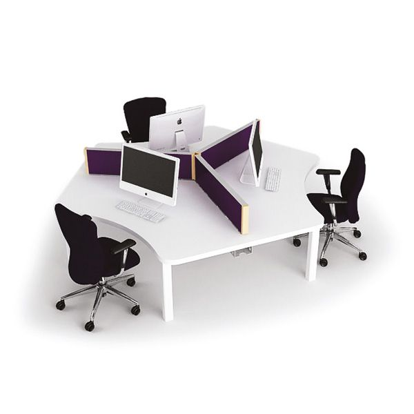 One001 Three Person Team Desk Cluster Spaceoasis Ltd Desk