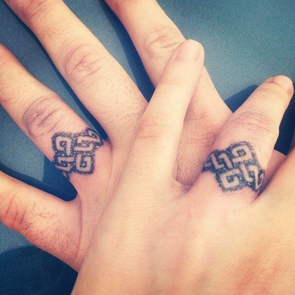 25 best ideas about Ring Tattoo Designs on Pinterest Finger