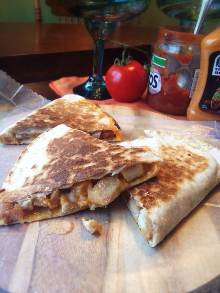 Taco Bell Chicken Quesadilla Recipe with Creamy Chipotle Sauce---the sauce is so good!!