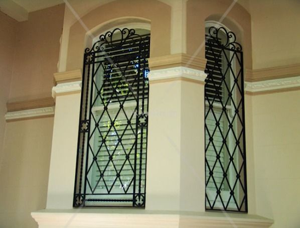 Modern window bars home window iron grill designs ideas Front door grill designs india