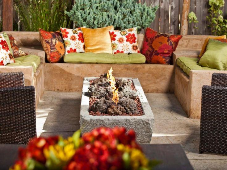 122 best kamin und feuerstelle images on pinterest | garden, fire ... - Gemauerte Sitzbank Im Garten