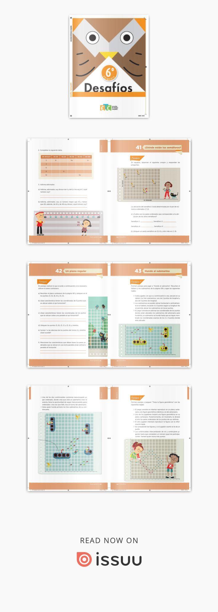Desafíos Matemáticos 6 Grado Para El Alumno Libro De Texto Desafio Matematico Desafíos