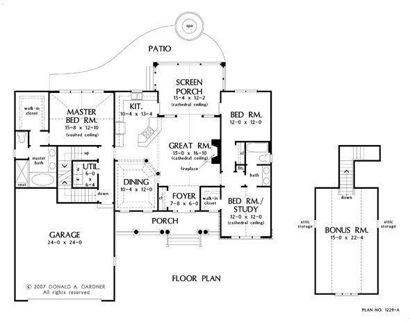 Basement Floor Plan Of The Carrollton House Plan Number