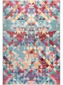Fancy benuta Teppiche Moderner Designer Teppich Visconti Multicolor cm Oeko Tex Standard Polyester Abstrakt Maschinengewebt Wohnzimmer