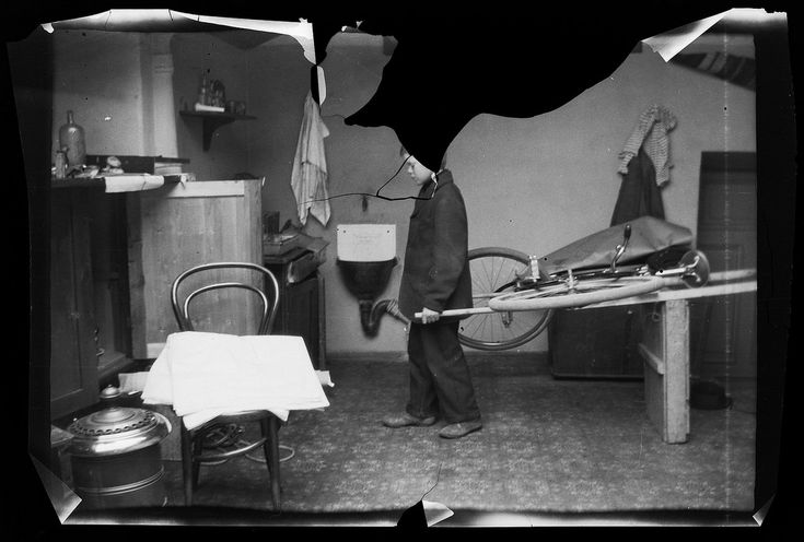 Model in the studio for The Wounded Angel (1903) | The Photographs of Hugo Simberg | The Public Domain Review