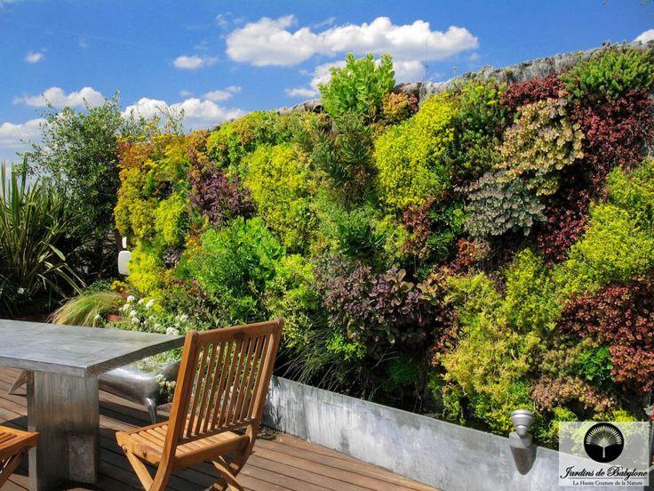terrasse sur le toit de paris | mur végétal exterieur | www.jardinsdebabylone.fr